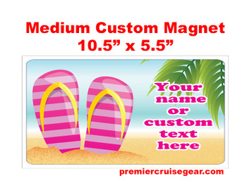 "Cruise Ship Door Magnet - Medium magnet 10 1/2"" x 5 1/2"".  Customizable!  Design 004"