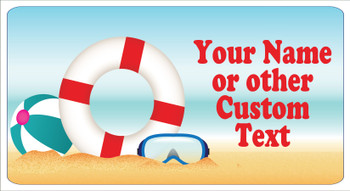 "Cruise Ship Door Magnet - Medium magnet 10 1/2"" x 5 1/2"".  Customizable!  Design 005"
