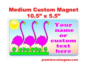 "Cruise Ship Door Magnet - Medium magnet 10 1/2"" x 5 1/2"".  Customizable!  Design 009"