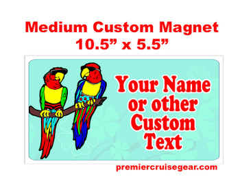 "Cruise Ship Door Magnet - Medium magnet 10 1/2"" x 5 1/2"".  Customizable!  Design 010"