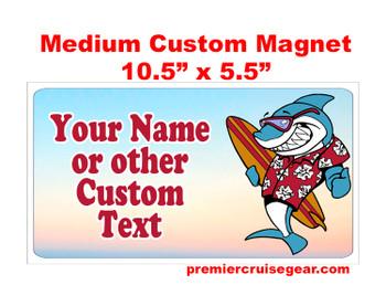 "Cruise Ship Door Magnet - Medium magnet 10 1/2"" x 5 1/2"".  Customizable!  Design 011"