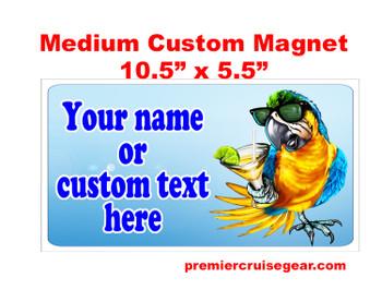 "Cruise Ship Door Magnet - Medium magnet 10 1/2"" x 5 1/2"".  Customizable!  Design 012"