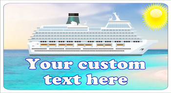 "Cruise Ship Door Magnet - Medium magnet 10 1/2"" x 5 1/2"".  Customizable!  Design 017"