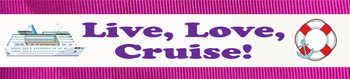 """Towel Anchor - """"Live Love Cruise"""""""