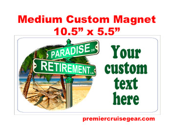 "Cruise Ship Door Magnet - Medium magnet 10 1/2"" x 5 1/2"".  Customizable!  Design 040"