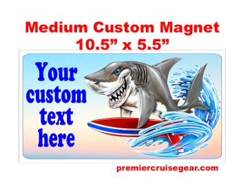 "Cruise Ship Door Magnet - Medium magnet 10 1/2"" x 5 1/2"".  Customizable!  Design 041"