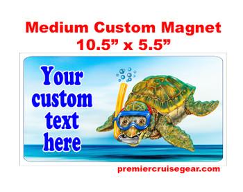 "Cruise Ship Door Magnet - Medium magnet 10 1/2"" x 5 1/2"".  Customizable!  Design 042"