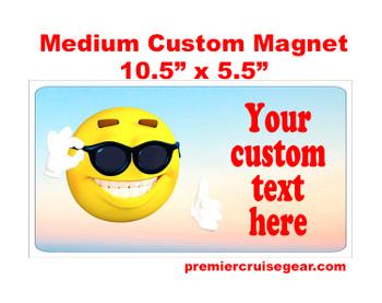 "Cruise Ship Door Magnet - Medium magnet 10 1/2"" x 5 1/2"".  Customizable!  Design 043"