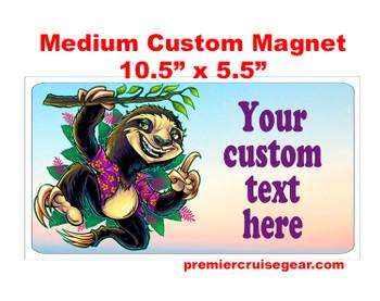 "Cruise Ship Door Magnet - Medium magnet 10 1/2"" x 5 1/2"".  Customizable!  Design 044"
