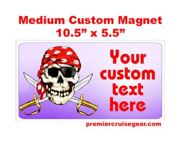 "Cruise Ship Door Magnet - Medium magnet 10 1/2"" x 5 1/2"".  Customizable!  Design 047"
