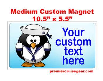 "Cruise Ship Door Magnet - Medium magnet 10 1/2"" x 5 1/2"".  Customizable!  Design 048"