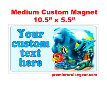"Cruise Ship Door Magnet - Medium magnet 10 1/2"" x 5 1/2"".  Customizable!  Design 049"