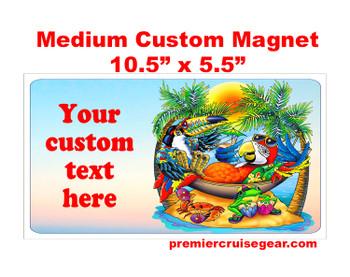 "Cruise Ship Door Magnet - Medium magnet 10 1/2"" x 5 1/2"".  Customizable!  Design 050"