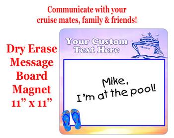"Cruise Magnet - Dry erasable magnet.  11"" x 11""   Design 003"