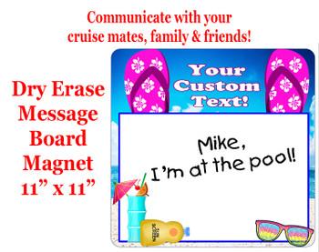 "Cruise Magnet - Dry erasable magnet.  11"" x 11""   Design 005"
