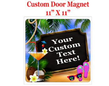 "Cruise Ship Door Magnet - 11"" x 11"" -  Board sign"