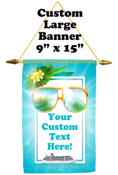Cruise Ship Door Banner -  available in 3 sizes.    Custom with your text! sunglasses