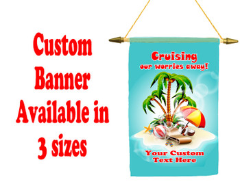 Cruise Ship Door Banner -  available in 3 sizes.    Custom with your text! worries