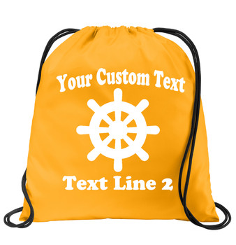 Cruise & Beach theme drawstring back pack - Custom with your text design 010