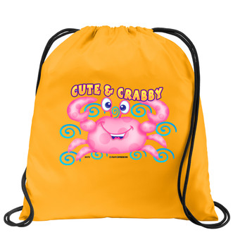 Cruise & Beach theme drawstring back pack - Available in 7 colors. Colorful decorations perfect for your little cruisers!