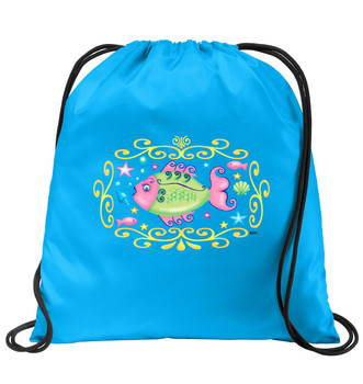 Cruise & Beach theme drawstring back pack - Available in 7 colors. Colorful decorations perfect for your little cruisers!  002