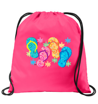 Cruise & Beach theme drawstring back pack - Available in 7 colors. Colorful decorations perfect for your little cruisers!  003