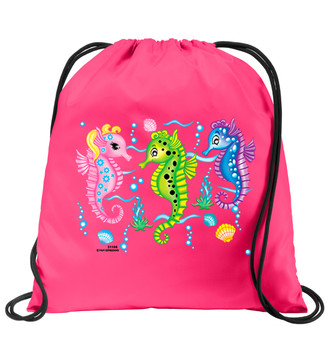 Cruise & Beach theme drawstring back pack - Available in 7 colors. Colorful decorations perfect for your little cruisers!  006