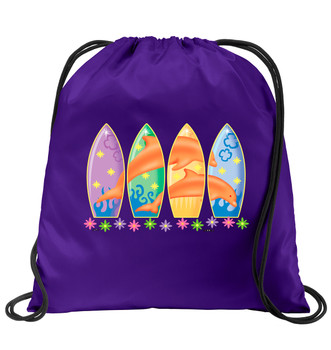 Cruise & Beach theme drawstring back pack - Available in 7 colors. Colorful decorations perfect for your little cruisers!  007