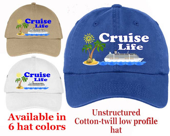 Cruise Theme Hat (006) - Keep safe from the sun while showing off your cruising spirt!