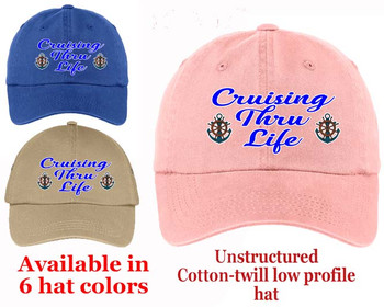 Cruise Theme Hat (012) - Keep safe from the sun while showing off your cruising spirt!
