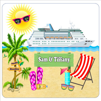 """Cruise Ship Door Magnet - 11"""" x 11"""" -  Custom with your text"""