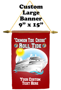 """Cruise Ship Door Banner -  available in 3 sizes.    Custom with your text!  """"Roll Tide"""""""