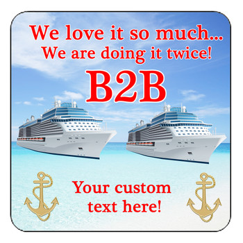 """Cruise Ship Door Magnet - 11"""" x 11"""" - Back to Back 1"""