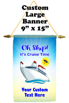 Cruise Ship Door Banner -  available in 3 sizes.    Custom with your text!  cruise time