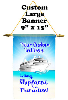 Cruise Ship Door Banner -  available in 3 sizes.    Custom with your text!  - Shipfaced