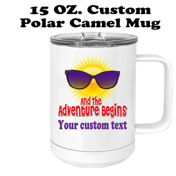 Custom cruise theme travel mug.