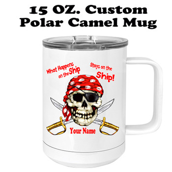 Custom cruise theme travel mug.