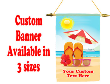 Cruise Ship Door Banner -  available in 3 sizes.    Custom with your text!  - beach 003