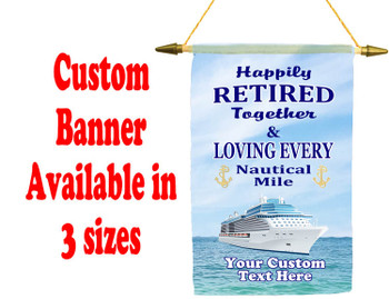 Cruise Ship Door Banner -  available in 3 sizes.    Custom with your text!  - Retired