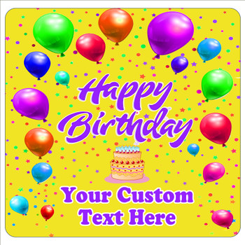 """Cruise Ship Door Magnet - 11"""" x 11"""" -  Customized  with your text -Birthday 006"""