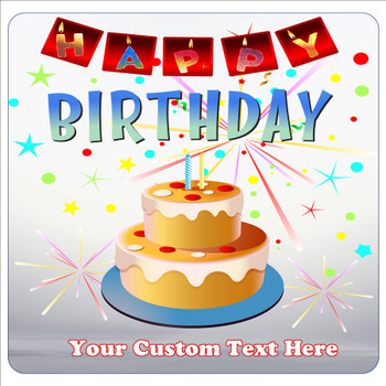"""Cruise Ship Door Magnet - 11"""" x 11"""" -  Customized  with your text -Birthday 008"""