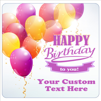 """Cruise Ship Door Magnet - 11"""" x 11"""" -  Customized  with your text -Birthday 009"""