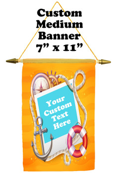 Cruise Ship Door Banner -  available in 3 sizes.    Custom with your text!  - beach sign