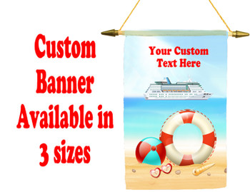 Cruise Ship Door Banner -  available in 3 sizes.    Custom with your text!  - beach 6