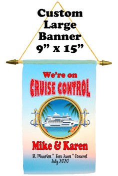 Cruise Ship Door Banner -  available in 3 sizes.    Custom with your text!  - cruise control