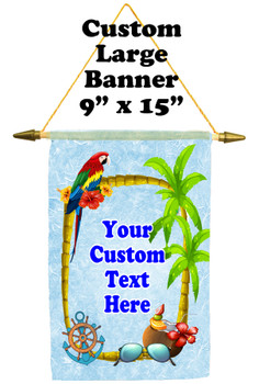 Cruise Ship Door Banner -  available in 3 sizes.    Custom with your text!  -tropical