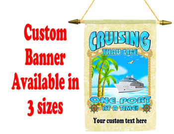 Cruise Ship Door Banner -  available in 3 sizes.    Custom with your text!  -cruising