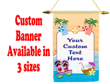Cruise Ship Door Banner -  available in 3 sizes.    Custom with your text!  -beach 7