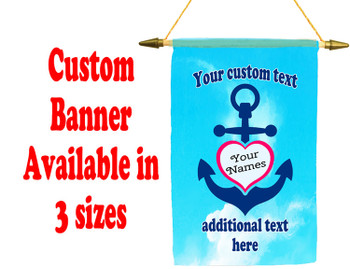 Cruise Ship Door Banner -  available in 3 sizes.    Custom with your text!  -anchor