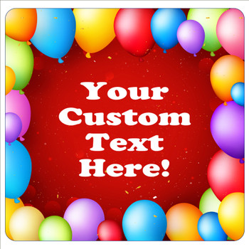 """Cruise Ship Door Magnet - 11"""" x 11"""" -  Customized  with your text -balloons"""